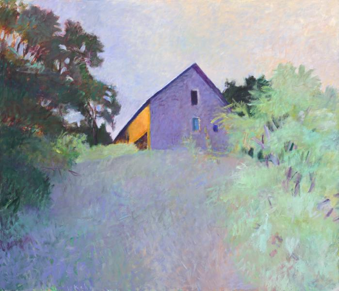 Wolf Kahn Barn Atop a Ridge, 1987