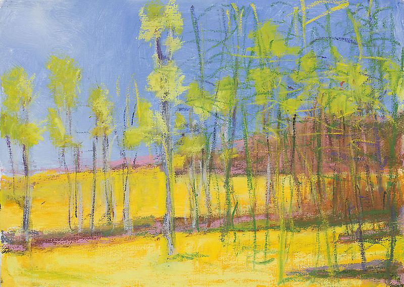 Wolf Kahn Trees Turning Yellow, 2011