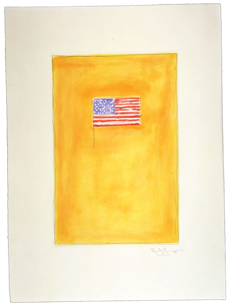 Jasper Johns Flag on Orange, 1998