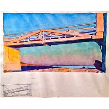 David Dewey Marshall Point: Bridge to Light With Compositional Drawing, 2013
